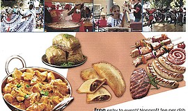Promotional flyer for the 37th Annual Ethnic Food Fair. Courtesy of the House...