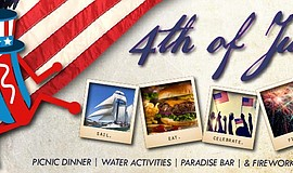 Promotional graphic for the Maritime Museum's Fourth Of July Celebration 2017
