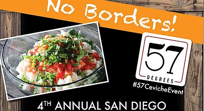 Promotional flyer for the ceviche showdown. Courtesy of The Pulse.