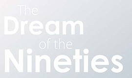 "A promotional graphic for ""The Dream of the Nineties"" photography exhibit, co..."