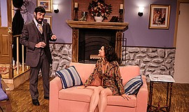 "Promotional photo of ""Accomplice"" at Scripps Ranch Theatre by Ken Jacques."