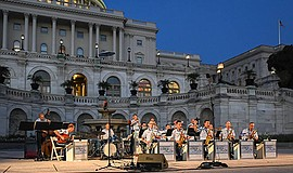 Promotional photo taken during the United States Capitol concert. Courtesy of...
