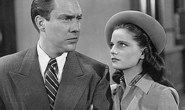 """Film still of Geraldine Brooks and Edmond O'Brien in """"An Act of Murder."""" Cour..."""
