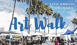 Promotional flyer for Coronado's Art Walk. Courtesy of Coronado Ferry Landing.