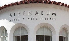 Exterior photo of the Athenaeum Music & Arts Library