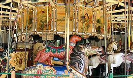 Promotional photo of Balboa Park's iconic carousel. Courtesy of Friends of Ba...