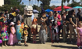 Promotional photo of the costume contest at Halloween Family Day in Balboa Pa...