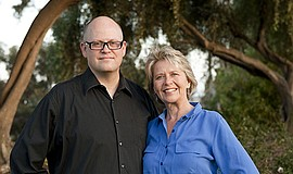"Grant Barrett and Martha Barnette, hosts of ""A Way with Words."""