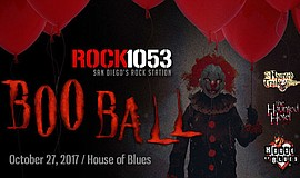 Promotional graphic for Boo Ball 2017. Courtesy of Rock 105.3.