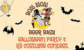 Promotional graphic for the Third Annual Bow Wow Beer Bash. Courtesy of Cammi...
