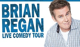 A promotional poster for Brian Regan's comedy tour, courtesy of the artist.