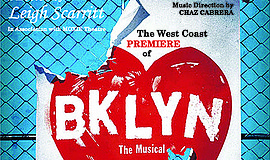 "A promotional poster for Moxie Theatre's ""Brooklyn The Musical."""