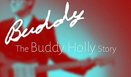 "A promotional poster for ""Buddy: The Buddy Holly Story,"" a musical at Intrepi..."