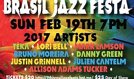 Promotional graphic for the annual Brasil Jazz Festa.