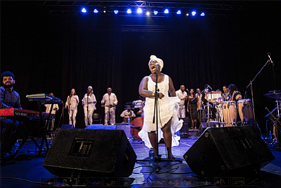 Photo of the featured artist. Courtesy of Daymé Arocena.