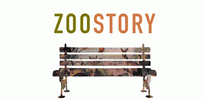 "Promotional graphic for the performance of ""The Zoo Story..."