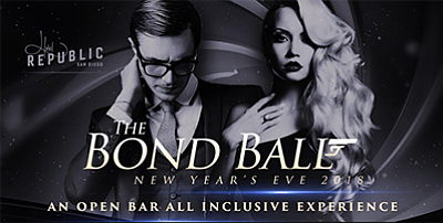 Promotional graphic for the Bond Ball. Courtesy of Five G...
