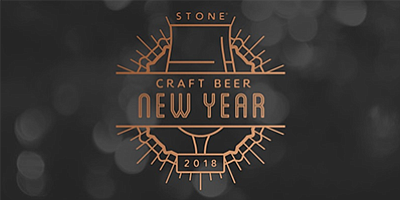 Promotional graphic for the Stone Craft Beer New Year. Co...