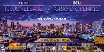 Promotional graphic for the grand opening of the living a...