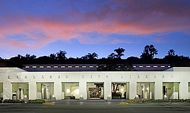 Promotional photo of Carlsbad Library's exterior. Courtesy of Carlsbad City L...