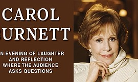 A promotional poster for Carol Burnett.