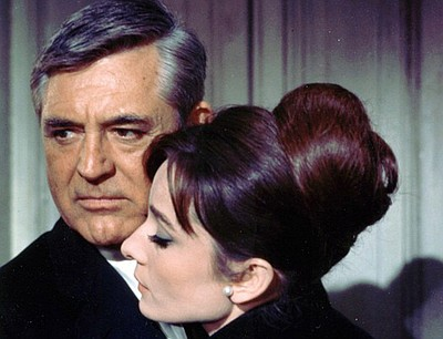 "Cary Grant and Audrey Hepburn in ""Charade."""