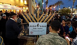 Promotional photo from previous Chanukah. Courtesy of Chabad La Costa.