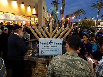 Promotional photo from previous Chanukah. Courtesy of Cha...