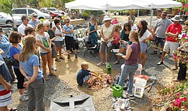 Promotional photo of a composting workshop. Courtesy of Solana Center