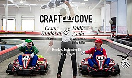 Promotional graphic for Craft at the Cove with Cesar Sandoval & Eddie Avila. ...