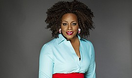 A promotional photo of musician Dianne Reeves, courtesy of the artist.
