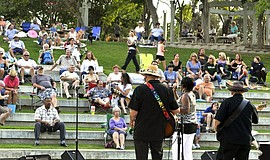 A Sundays at Six concert in Harry Griffen Park.