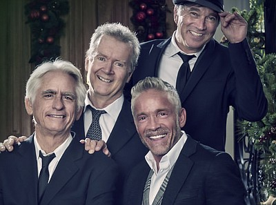 A promotional photo of musicians on the Dave Koz 20th Anniversary Christmas Tour, courtesy of the artist.