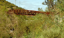Photo of the Del Dios Gorge bridge.