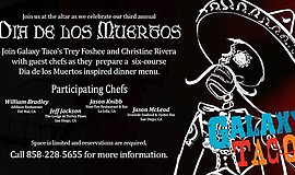 Promotional graphic for the Dia de los Muertos Guest Chef Dinner. Courtesy of...