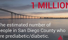 "Graphic that reads ""The estimated number of people in San Diego County who ar..."