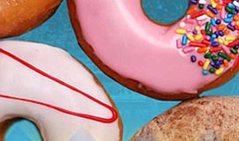 Photo of donuts for the Del Mar Racing Series Donuts Day.
