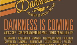 Promotional flyer for the Modern Times Festival of Dankness