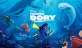 "Promotional graphic for ""Finding Dory."" Courtesy of Disney Pixar."