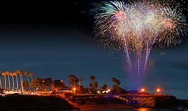 Promotional photo for the Fourth Of July Fireworks at La Jolla Cove.