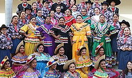 Promotional photo of Rancho Buena Vista High School's Ballet Folklorico for t...