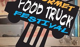 Promotional graphic for the annual Gourmet Food Truck festival.