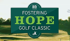 Promotional graphic for the 25th Annual Fostering Hope Golf Classic.