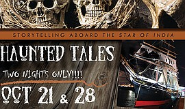 Promotional graphic for Haunted Tales. Courtesy of Maritime Museum of San Diego
