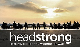 Promotional image for Headstrong Project's San Diego Benefit Reception. Court...