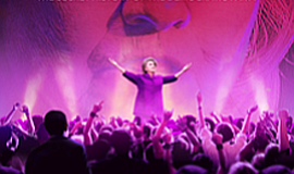 "Movie poster for film, ""Hillary's America: The Secret History of the Democrat..."