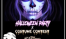Promotional graphic for The Holding Company's Halloween Party & Costume Contest
