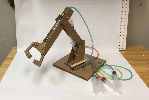Tinkerers Club Hydraulic Powered Robotic Arm July 15