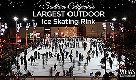 Promotional photo for Southern California's largest outdoor ice skating rink....