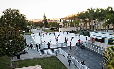 Promotional photo of the Rady Children's Ice Rink At Libe...